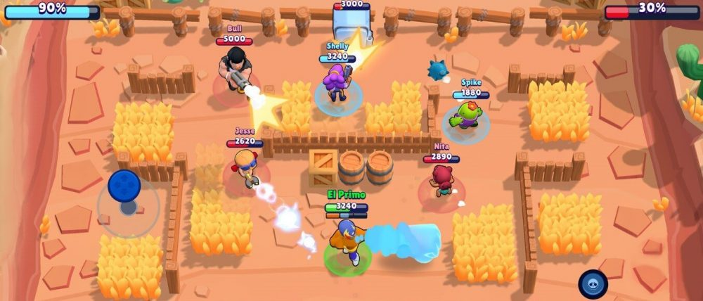 brawl stars multiplayer action
