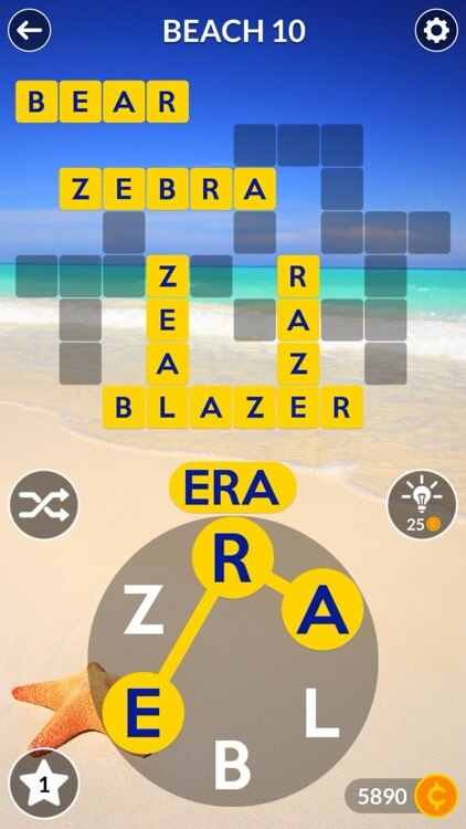 wordscapes puzzle gameplay